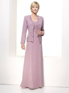 Chiffon Mother of the Bride Dresses with Long Jacket Plus with Lace Appliques Vestidos Longo De Renda Evening Party Gowns Full Cocktail Dresses Online, Evening Dresses Online, Cheap Evening Dresses, Womens Cocktail Dresses, Evening Gowns, Evening Party, Dress Online, Mother Of Groom Dresses, Mothers Dresses