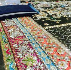 Embroidery Suits Punjabi, Zardosi Embroidery, Hand Embroidery Dress, Embroidery Suits Design, Couture Embroidery, Embroidery Fashion, Hand Embroidery Designs, Beaded Embroidery, Embroidery Patterns