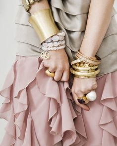 Lovely bangles and bracelets put together-the style statement