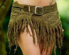 Gypsy Bohème Hippie jupe vert Festival bohémien par AryaClothing