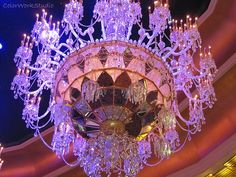 Chandelier Lavender Photo purple home decor avant garde chic bedroom dining room glamour luxury romantic