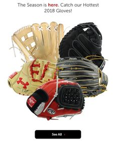 New Year! New Season! Shop the latest and greatest 2018 baseball and softball gloves with free shipping and a 100 day love your glove guarantee only at JustBallGloves! Fastpitch Softball Gloves, Baseball, Free Shipping, Shop, Store