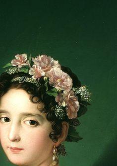 Manuela González Velázquez (detail), by Zacarías González Velázquez, 1820