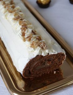 Chestnut and White Chocolate Yule Log Recipe