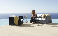 DIAMOND Cane-line ekskluzywne meble ogrodowe - Willow House Outdoor Sofa, Outdoor Living, Outdoor Furniture, Outdoor Decor, Willow House, Live In Style, Lounge Sofa, 2 Seater Sofa, Second World