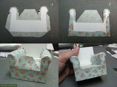 Best 12 26 DIY Cardboard Furniture Ideas That Are Surprisingly Practical – SkillOfKing. Diy Dollhouse Books, Dollhouse Tutorials, Dollhouse Miniatures, Diy Cardboard Furniture, Barbie Furniture, Furniture Ideas, Modern Dollhouse Furniture, Miniature Furniture, American Girl Diy