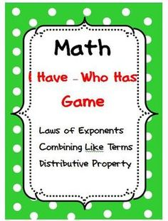 laws of exponents puzzle pdf
