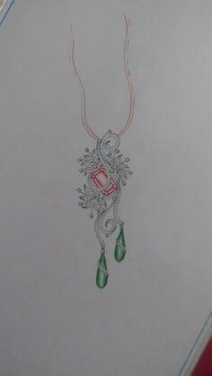 Jewellery Sketches, Jewelry Drawing, Jewelry Illustration, Pencil Art, Art Journals, Jewelry Trends, Diamond Pendant, Photo Jewelry, Lotus