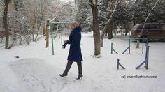 Natalia - Overknee-Stiefel im Schnee... (boots in the snow) - #0123