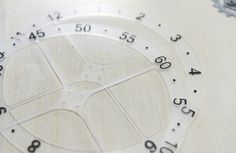 Laser cutting: a smart way to facilitate precise placement of the clock numbers. Instead of cutting and placing them manually, Matt used the laser toolhead to cut the numbers from black adhesive foil. Because the material used for CNC milling was translucent, the laser went trough and as planned cut only the foil. #CNC #milling #zmorph3d #custom #clock