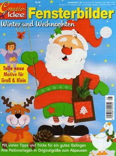 Fensterbilder Nr66 - Emese Szafian - Álbumes web de Picasa Christmas Arts And Crafts, Christmas Decorations, Book Crafts, Paper Crafts, Craft Books, Crafts To Make, Crafts For Kids, Magazine Crafts, Magazines For Kids