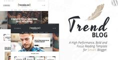 Trendblog is a creative, vintage & elegant blog ideal for write your stories. The theme is totally responsive so it adapts to your style as well as the device it?s viewed on. Trendblog is WordPress...