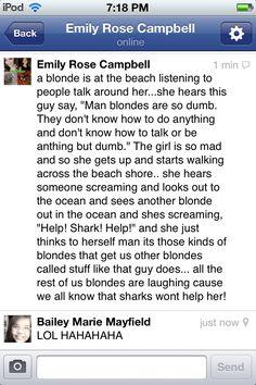 Dumb blonde breasts jokes mirror
