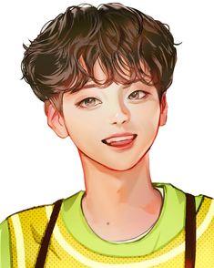 Boy Illustration, Baby Songs, Kpop Fanart, Hyungwon, Chinese Art, Cute Drawings, Music Artists, Cute Art, Draw