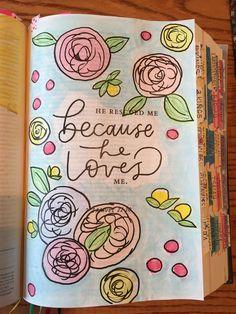 2 Samuel 22:20 bible journaling Journal Art, Bible Journal, Journal Ideas, Bible Art, Book Art, Bullet Journal 101, 2 Samuel, Illustrated Faith, Art Journaling