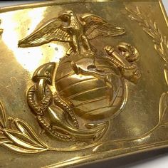 It is a solid block of brass and weighs almost four ounces. solid brass for many years. Military Belt, Marine Corps, Usmc, Solid Brass, Belt Buckles, Link, Clothing, Vintage, Accessories