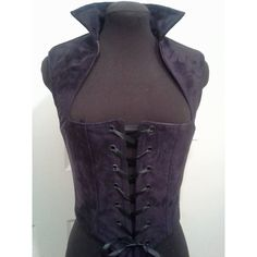 Dark Purple Plum Suede Renaissance Gothic Bodice Made for Your Body... ($65) ❤ liked on Polyvore featuring corsets, grey, lingerie, women's clothing and comic book