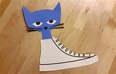 Create pete the cat inspired craft by using the free craft templates available at craftypammy. Toddler Art, Toddler Crafts, Preschool Activities, Crafts For Kids, Craft Kids, Book Activities, Preschool Lessons, Preschool Classroom, Preschool Ideas