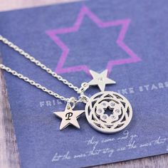 Friends gift   Friendship card   Charm Necklace   Personalised Necklace   FREE UK Shipping   Silver Necklace   Charm Jewellery   Friendship by JSCharmJewellery on Etsy