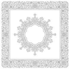 Islamic Motifs, Islamic Art Pattern, Arabic Pattern, Pattern Art, Persian Pattern, Persian Motifs, Blackwork Patterns, Pattern Coloring Pages, Turkish Art