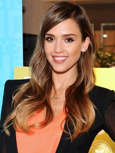 Sexy summer hair colour trends: Our hair icon, Jessica Alba has the ultimate glossy ombre style. #hairspiration