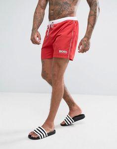 252261f52e19a BOSS By Hugo Boss Star Fish Swim Shorts Exclusive - Red Hugo Boss Swim  Shorts,