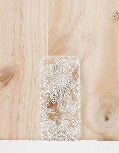 Coque relief fleurs blanches iPhone 5/5s - Accessoires tablette & téléphone portable - Bershka France