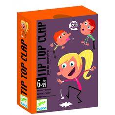 Tip Top Clap - cselekvéses memóriafejlesztő kártyajáték 6 éves kortól - Djeco Card Games, Memories, Tips, Dates, Memory Games, Kid, Games, Souvenirs, Remember This