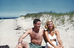 "[Sylvia Plath on the beach in 1953 during her ""platinum summer"" with friend Gordon Lameyer] ""Yes, my consuming desire is to mingle with road crews, sailors and soldiers, barroom regulars—to be a part of a scene, anonymous, listening, recording—all this is spoiled by the fact that I am a girl, a female always supposedly in danger of assault and battery. My consuming interest in men and their lives is often misconstrued as a desire to seduce them, or as an invitation to intimacy. Yes"