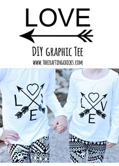 DIY Love & Arrows graphic tee with Cricut Explore - The Crafting Chicks: