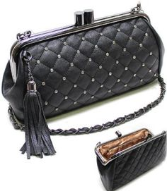 Amazon.com  DESIGNER Inspired BLING Rhinestone   Crystal Studded  Clutch Case Evening Bag by Jersey Bling  Clothing bac2b810ed4cd