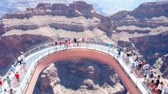 Grand Canyon Skywalk - A glass bridge is suspended 4,000 feet above the Colorado River on the very edge of the Grand Canyon.