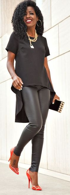 Leather Pants Styling by Style Pantry