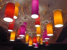 Colourful Danish lighting at the Tivoli conference centre, Copenhagen
