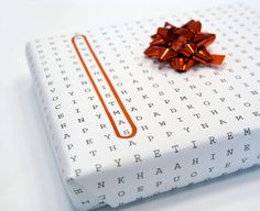 Great wrapping paper idea.