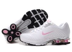 Nike Shox Experience+ Womens Shoes White Pink The nike shox experience+ womens shoes white pink built with Breathable mesh upper with elastic cage for support. And it also come with nike zoom unit in forefoot for low-profile, super-responsive cushioning. Stretch fit inner sleeve construction provides a sock-like fit. Finally, this nike shox experience+ shoes use BRS1000 carbon rubber outsole for durability.