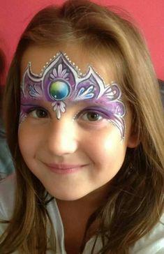 "princess crown face painting; purple; dauber ""jewel"""