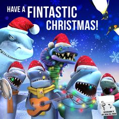 Merry Christmas love from Hungry Shark! Shark Games, All Sharks, Shark Art, Merry Christmas Love, Megalodon, Evolution, Have Fun, Funny Pictures, Geek Stuff