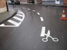 Cut On The Dotted Line - Street Art #StreetArt #art #graffiti