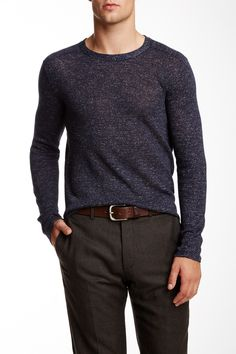 Flecked Crew Neck Sweater by Inhabit on @nordstrom_rack