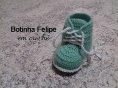 Botinha Felipe em crochê - YouTube