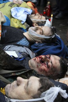 Protesters killed by the bullets of snipers. Kiev, Ukraine, February 20, 2014 | Flickr - Photo Sharing!