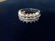 14K GOLD & SS DIAMOND ENGAGEMENT WEDDING BAND RING SZ 5 REG IN STORE FOR GIFT! #EXCEPTIONALBUY #Band