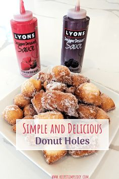 Simple and Delicious Donut Holes | keepitsimplediy.com