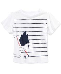 First Impressions Baby Boys' Short-Sleeve Dog & Stripe T-Shirt, Only at Macy's