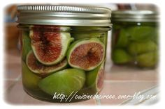 Canned figs in syrup - The cuisine of Circeo - jam Fig Recipes, Cooking Recipes, Cake Recipes, Fig Jam, Cucumber, Food And Drink, Nutrition, Homemade, Healthy
