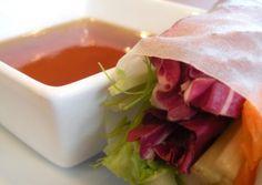 fresh spring rolls w/ sweet & sour sauce #vegan