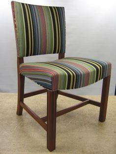 upholstered in Paul Smith Stripes. As much as I adore everything PS's, I still prefer Klints chair in leather! Modernism, Sofa Chair, Paul Smith, Sofa Design, Cubes, Benches, Chairs, Stripes, Organic