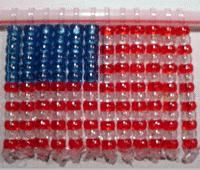 This US Flag beaded suncatcher is an ideal way to share some patriotic spirit with your kids while adding a little history to your home for Independence Day, Memorial Day or Flag Day. Patriotic Crafts, Patriotic Decorations, July Crafts, Summer Crafts, Easter Crafts, Holiday Crafts, Preschool Crafts, Crafts For Kids, Toddler Crafts