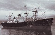 Kelvin Bank (ex- Samuta, ex- Jesse de Forest) at Capetown, South Africa at unknown date between 1947 and 1953. Owned by The Bank Line Ltd.and operated by A.Weir Shipping & Trading Co.Ltd.under British Flag and Registry.